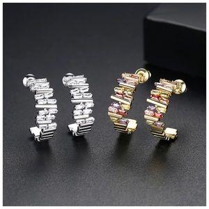 🆕Swarovski Crystals Hoop Earrings